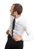 Businessman in action Royalty Free Stock Photography