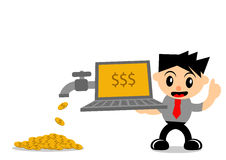 Businessman activity. Illustration  graphic of cartoon character businessman in activity Royalty Free Stock Image