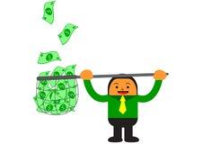 Businessman in activity. Illustration  graphic cartoon character of businessman in activity Stock Photo