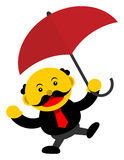 Businessman in activity. Illustration  graphic cartoon character of businessman in activity Stock Image
