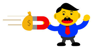 Businessman in activity. Illustration  graphic cartoon character of businessman in activity Royalty Free Stock Image