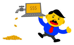 Businessman in activity. Illustration  graphic cartoon character of businessman in activity Royalty Free Stock Photos