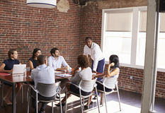 Businessman Addressing Boardroom Meeting Royalty Free Stock Photo