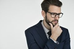 Businessman Adult Portrait Occupation Concept.  royalty free stock image