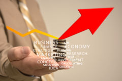 Businessman with advertisement Royalty Free Stock Images