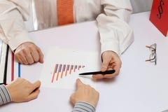 Businessman advise a client Stock Photos