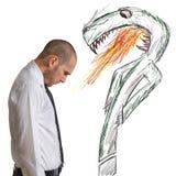 Businessman afraid Stock Image