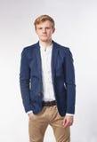 Businessman against white background Stock Photo