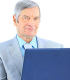 Businessman at the age of works Royalty Free Stock Images