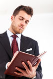 Businessman agenda Stock Photos
