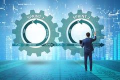 The businessman in agile methods concept. Businessman in agile methods concept royalty free stock photos