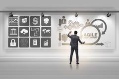The businessman in agile software development concept Stock Photo
