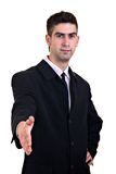 Businessman Agreement. Businessman, shaking hands. Agreement. Isolated on white Royalty Free Stock Photography
