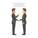 Businessman agreement or deal vector concept in flat modern style Stock Image