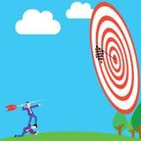 Businessman aiming arrow to target Stock Photos