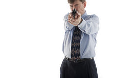 Businessman aiming pistol Royalty Free Stock Images