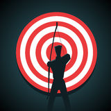 Businessman aiming at a target Stock Image