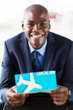 Businessman air ticket Royalty Free Stock Image