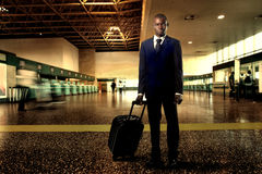 Businessman at the airport Stock Image