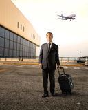 Businessman at the airport Royalty Free Stock Photo