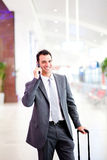 Businessman at airport Stock Photos