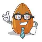 Businessman almond nut character cartoon Royalty Free Stock Photos