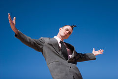 A businessman with alternative style Royalty Free Stock Images