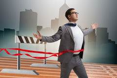 The businessman in ambition and motivation concept Royalty Free Stock Images