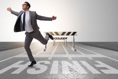 The businessman in ambition and motivation concept Stock Photo