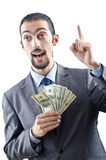 Businessman with american dollars Stock Photos