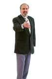 An amputee businessman isolated on white. Royalty Free Stock Photo