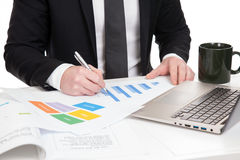 Businessman analysing data Royalty Free Stock Photos