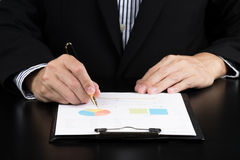 Businessman Analysis Business and financial report. Stock Images