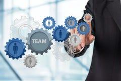Businessman and analytics symbols on grey. Business man businessman symbols analytics background graphic Royalty Free Stock Photos