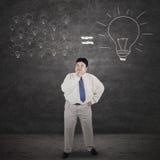 Businessman analyze solution Stock Image