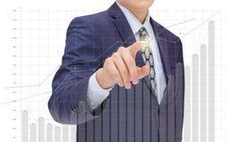Businessman analyzes financial statistics. Stock Photography