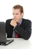 Businessman analyzing Royalty Free Stock Image