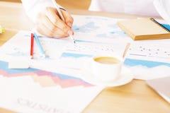 Businessman analyzing charts Royalty Free Stock Photography