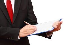 Businessman analyzing document Royalty Free Stock Photo