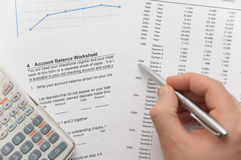 Businessman Analyzing Financial Figures Stock Photography