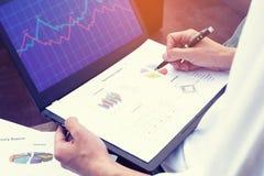 Businessman analyzing financial performance. Royalty Free Stock Photo