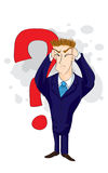 Businessman And Question Mark Royalty Free Stock Photo