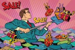 Free Businessman And Sales Season, Retro Man Royalty Free Stock Photos - 80695888