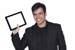 Businessman And Tablet Pc Stock Photography