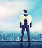 Businessman-angel Stock Image