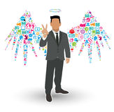 Businessman Angel Wings Royalty Free Stock Image