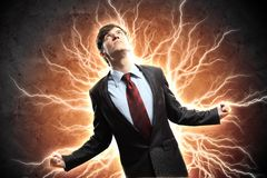 Businessman in anger Royalty Free Stock Photo