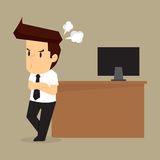 Businessman Anger problem Royalty Free Stock Images