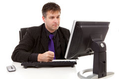 Businessman is angry Royalty Free Stock Images