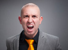 Businessman angry and shouting Stock Image